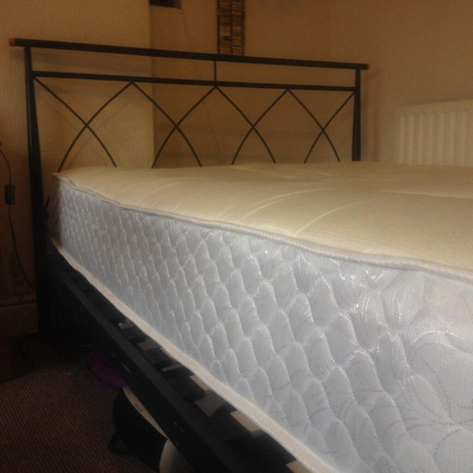 Double Bed Frame With Nearly New Orthopedic Mattress
