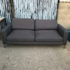 Sofa Seat Height 60cm Simmons Bed Mattress Replacement Brown Grey In Holbeach Lincolnshire Gumtree