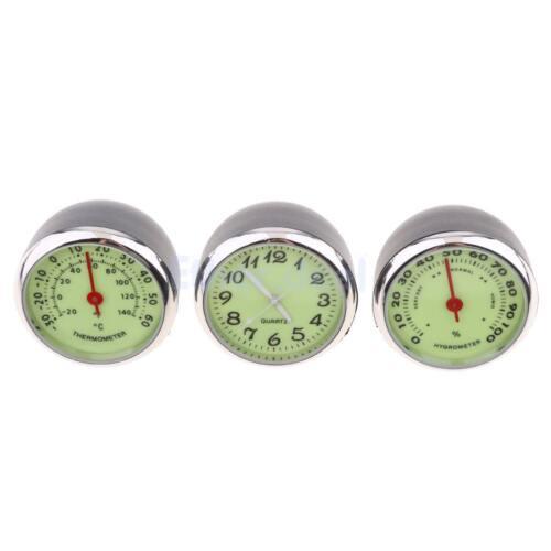 3 teile / satz auto thermometer hygrometer quarz uhr für armaturenbrett