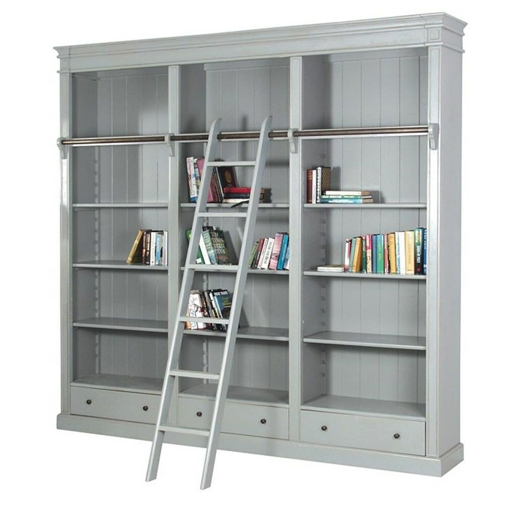 Grey Fayence Library Bookcase With Ladder And Rail Excellent Condition In Donaghadee County Down Gumtree