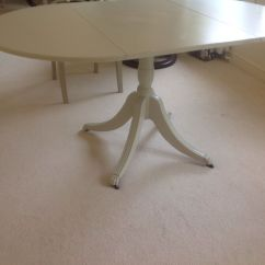 White Painted Table And Chairs Linen Chair Covers Shabby Dropleaf 6 In