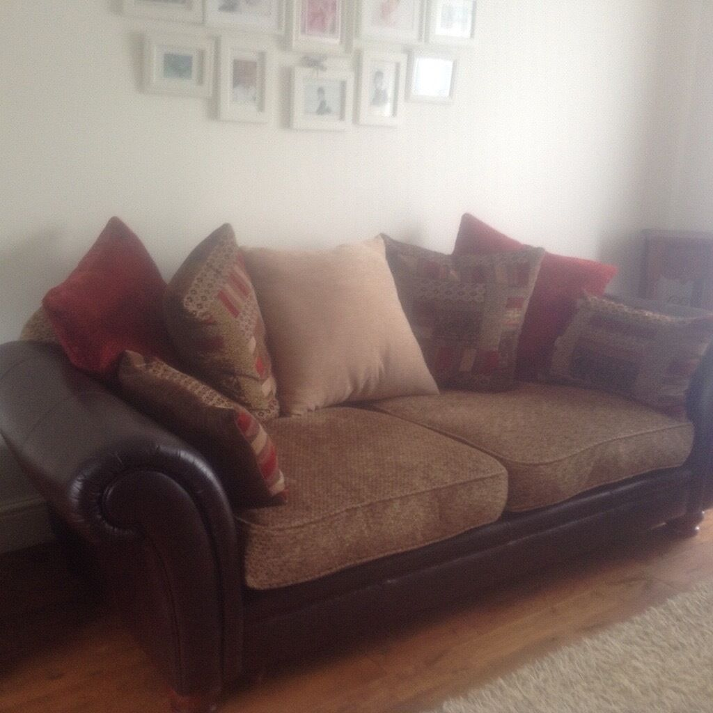 3 seater leather sofa dfs grey ideas uk perez armchair and footstool