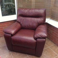 Reclining Armchairs Living Room Sears Chairs Brown Leather Electric Recliner Armchair Sofa Chair Seat