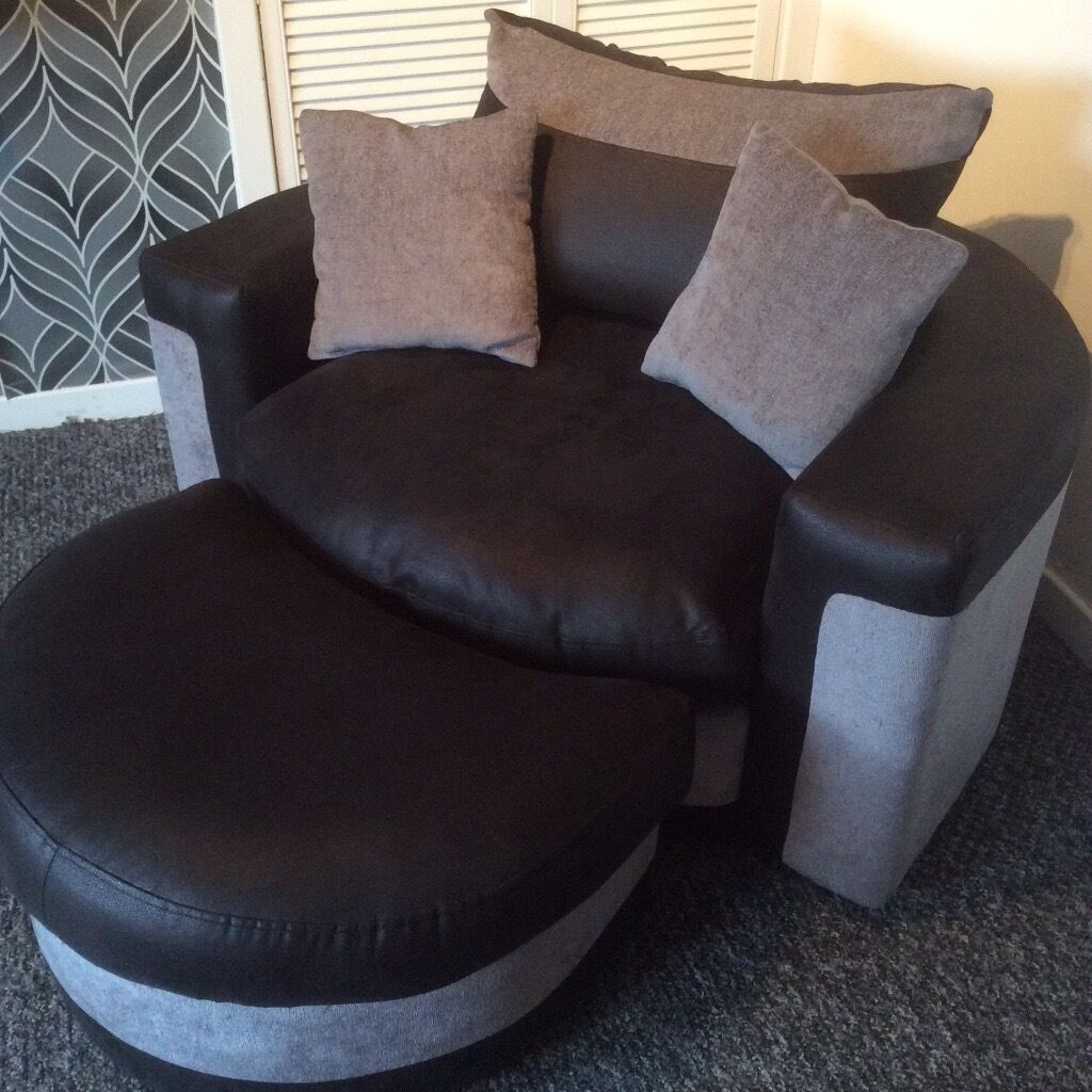 black 3 seater sofa and cuddle chair vintage chesterfield london scs grey corner includes matching swivel