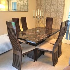 Dining Chairs Italian Design Lafuma Pop Up Chair Table And 6 With Matching