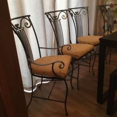 Wrought Iron Dining Chairs Chair Covers For Birthday Party Multiyork Heavy 4 Includes 2