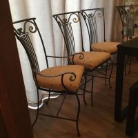 MULTIYORK DINING CHAIRS HEAVY WROUGHT IRON 4 (includes 2 ...