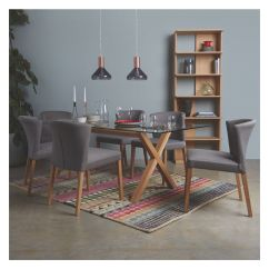 Dining Table And Chairs Dublin Belham Living Printed Indoor Chair Cushion Habitat 6 8 Seat Oak Glass In