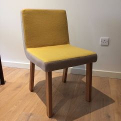 Yellow Upholstered Dining Room Chairs Land Of Nod High Chair Doll Set 4 Mustard In