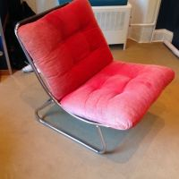 Habitat chair vintage 1980s in red cord, Bedroom or