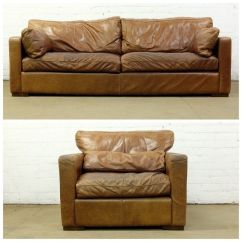 Distressed Leather Armchair Uk Vintage Lounge Chair Nice Tan Aniline 4 Seater Halo Sofa Delivery