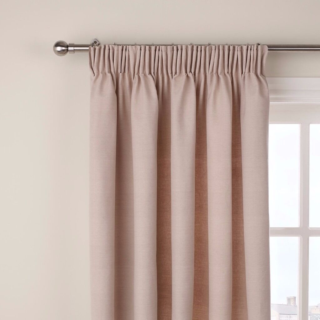 John Lewis Curtains Pencil Pleat Putty With Extendable Curtain