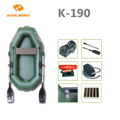 KOLIBRI-K-190-Inflatable-Angelboot-Waller-Futterboot-Rowing-boat-Dinghy-Carp
