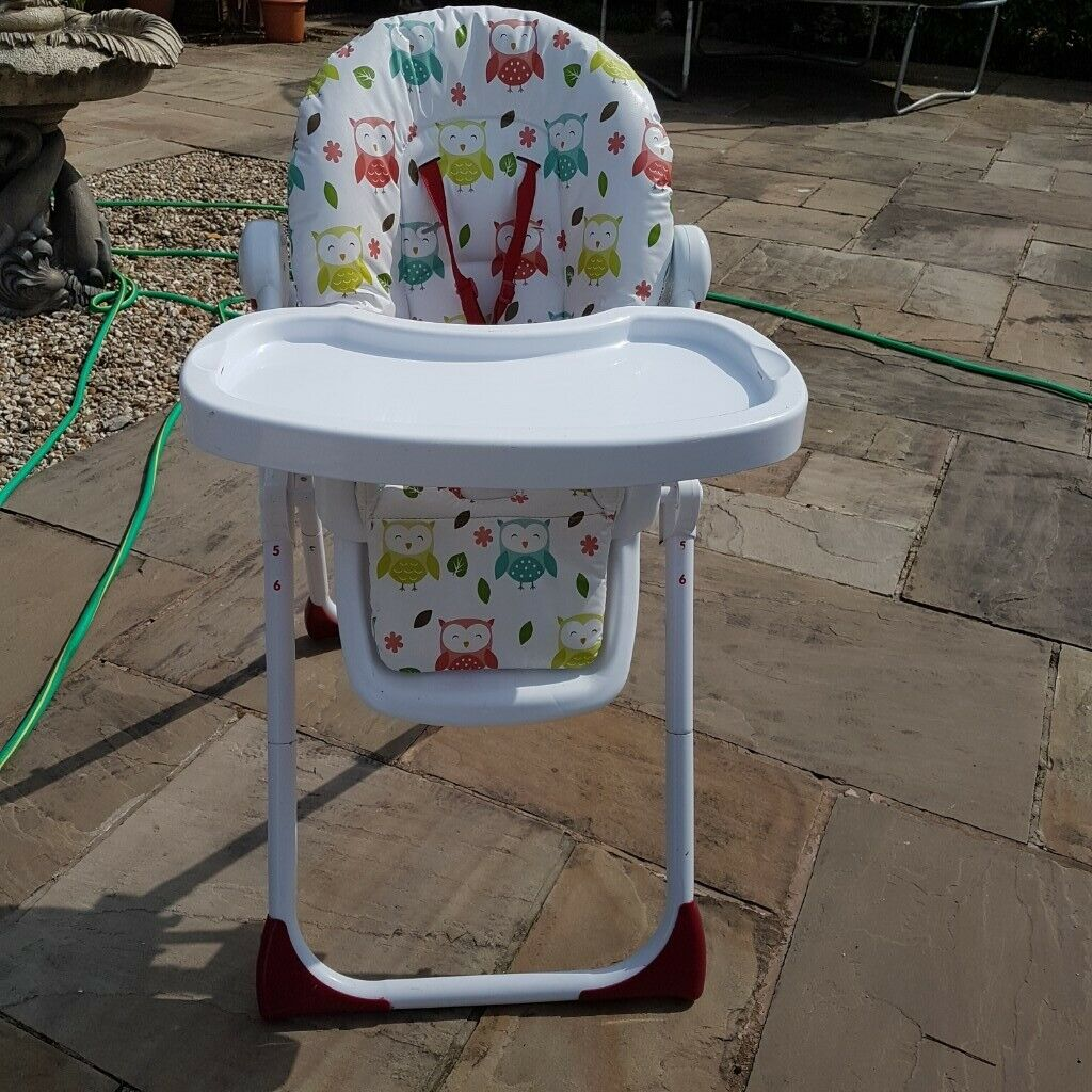 Owl Chair Mamia High Chair Bright Colourful Owl Design Hi Lo Chair Including A Front White Feeding Tray In Leyland Lancashire Gumtree
