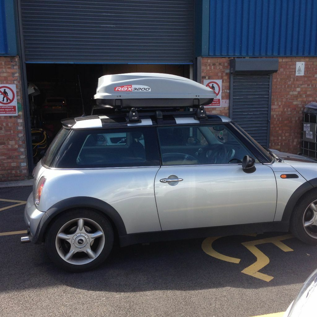 MINI ONE MONT BLANC ROOF RACK AND TOP BOX. WILL SELL