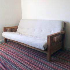Sofa Bed 3 Fold Mattress Compact Sofas Uk Futon Company  Oke Range Seater Solid Oak