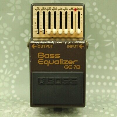 BOSS GE-7B Bass Equalizer Made in Japan Vintage Guitar effect pedal (AA08906)