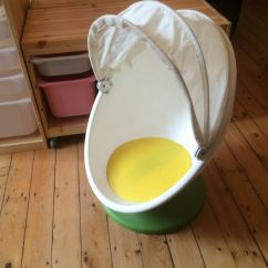 Swivel Chair Uk Gumtree Swing Holder Ikea Childrens/kids Ps Lomsk Egg/ball - White And Green, Good Used Condition. | In ...