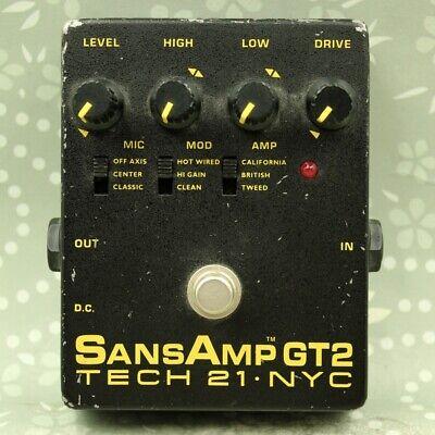 TECH21 SansAmp GT2 Made in U.S.A. Distortion Guitar effect pedal (137142)