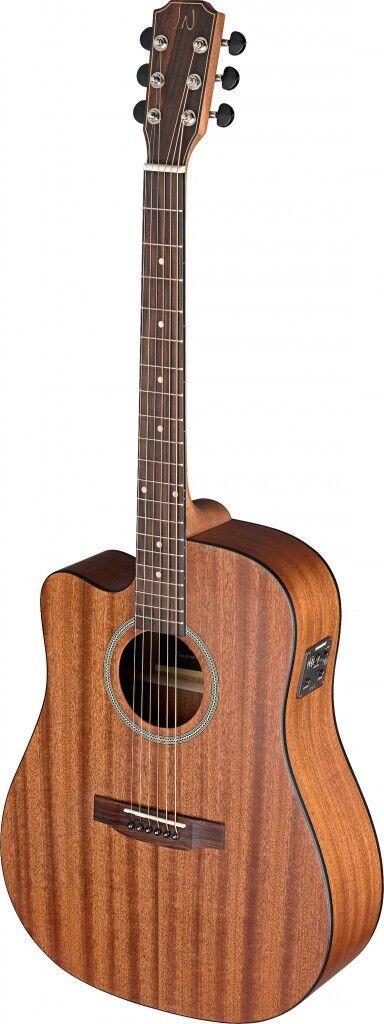 DEV-DCFI LH elektro akustik Dreadnought-Gitarre mit massiver Mahagoni-Decke