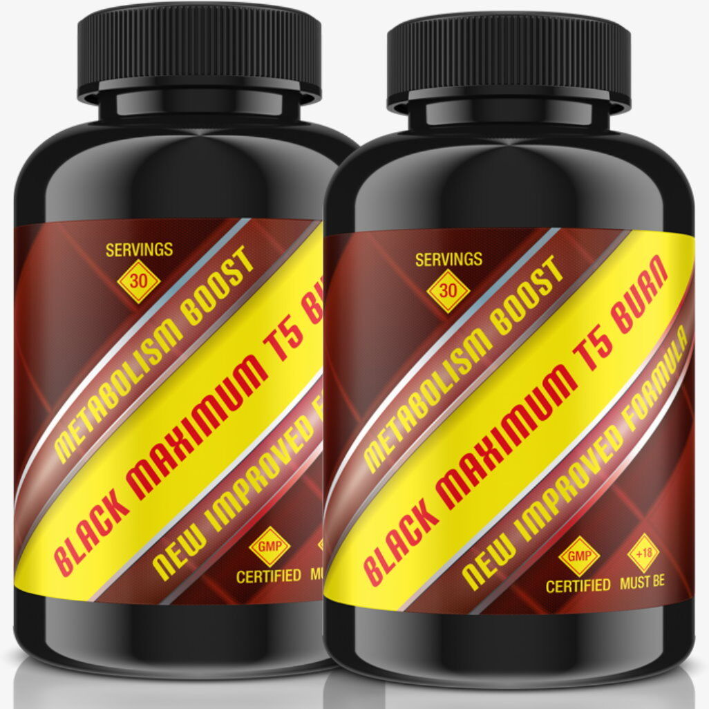 2x BLACK MAXIMUM T5 BURN - Appetithemmer + Fatburner ALL IN ONE - 60 Tage Zyklus