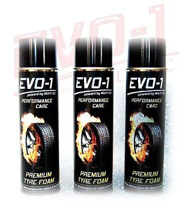 [EUR 9,93/L] 3 500 EVO-1 PREMIUM TYRE FOAM Reifenpflege Reifenschaum Gummipflege