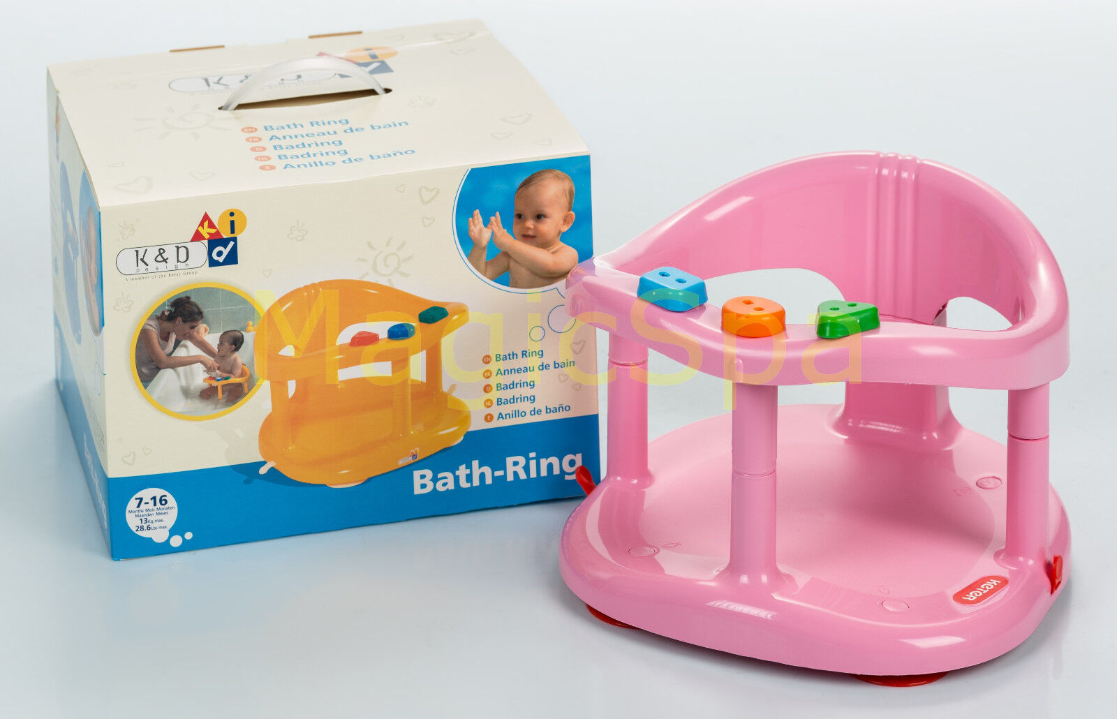 baby bath chair mothercare swivel to get into bathtub infant tub ring seat keter pink fast shipping