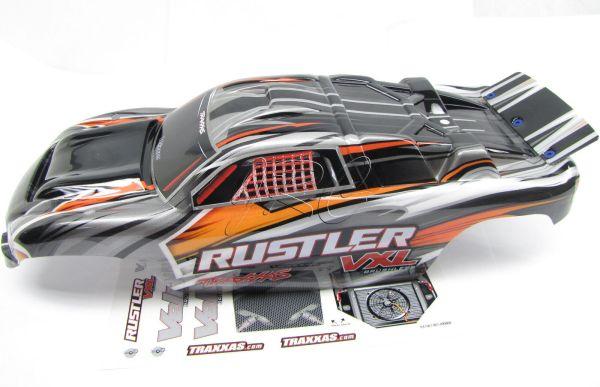 Rustler Vxl Painted Black Grey Body Shell Traxxas 3707