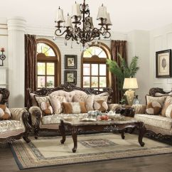 Luxury Living Room Furniture Sets Accessorize Traditional 3p Sofa Set Exposed Carved Details About Wood Frames