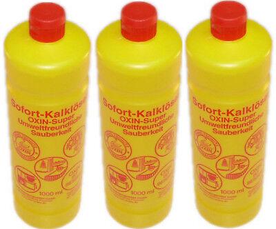 3 Oxin Super Sofort Kalklöser Kalkreiniger Reinigungsmittel Konzentrat Entkalker