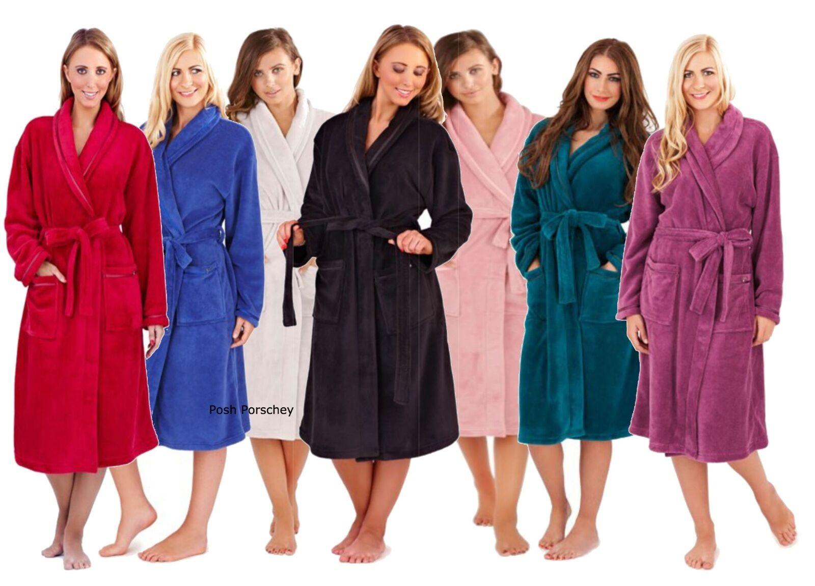 Luxury Ladies Girls Soft Full Length Collar Fleece Bath