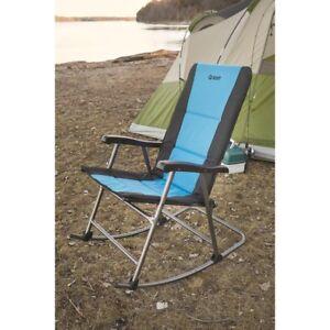 folding rocking chair wood avalon ebay 500lbs camping rocker porch outdoor seat furniture blue