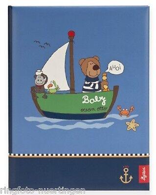 Goldbuch sigikid Ocean Otto blau Babytagebuch Baby Album Fotoalbum Tagebuch