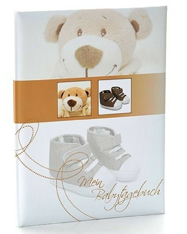 Goldbuch Babytagebuch Baby Album Fotoalbum Trendbär Tagebuch