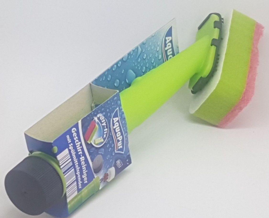 Spülschwamm mit Spülmittelspender Spülbürste und Geschirrbürste Topfreiniger