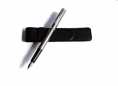 Füller Füllfederhalter Waterman Allure Leder Design Tasche Etui Diamant Gravur
