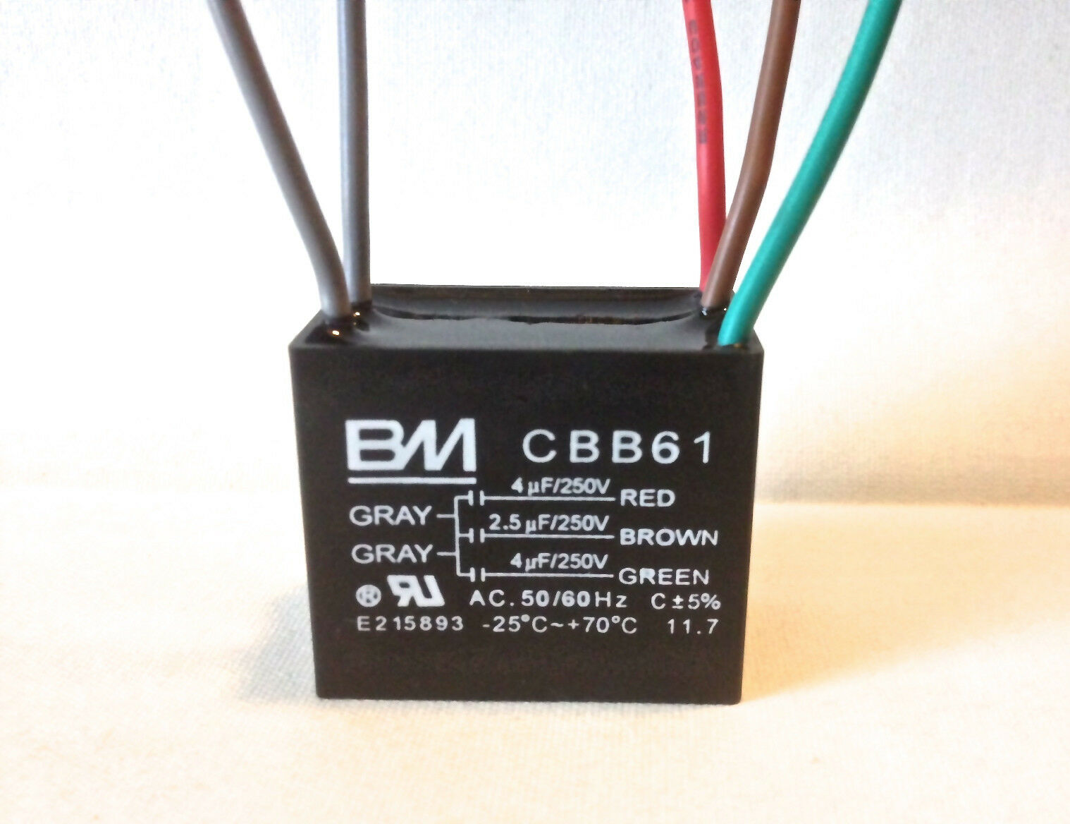 ceiling fan motor capacitor wiring diagram kenwood kdc248u cbb61 4uf 432 5uf 434uf 5 wire ul listed