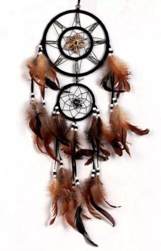 ❤️ Traumfänger * Indianer * Dreamcatcher * Natur * Braun * Federn * 70 cm ❤️