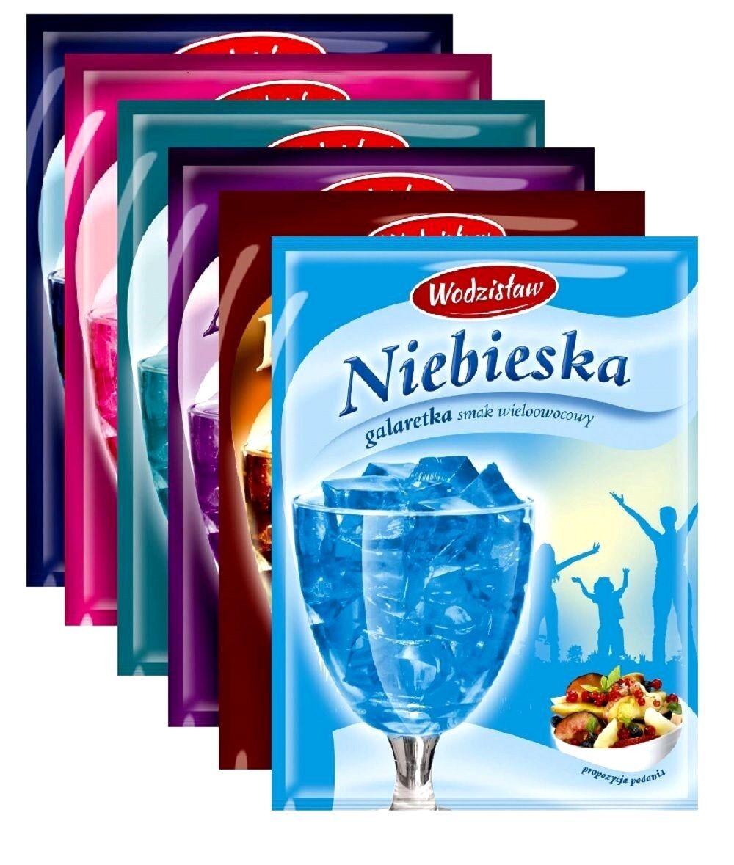 Testpaket Götterspeise  Wackelpudding Dessert  6 Farben Party 6x75g
