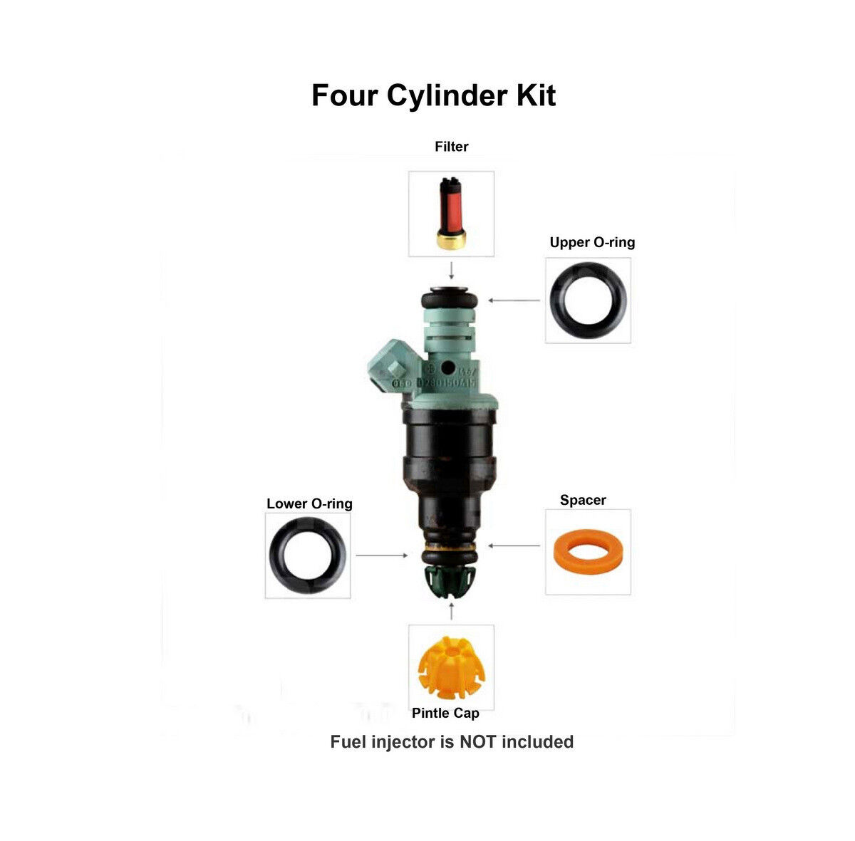 4 Fuel Injector Service Repair Kit 004 Fits Bmw