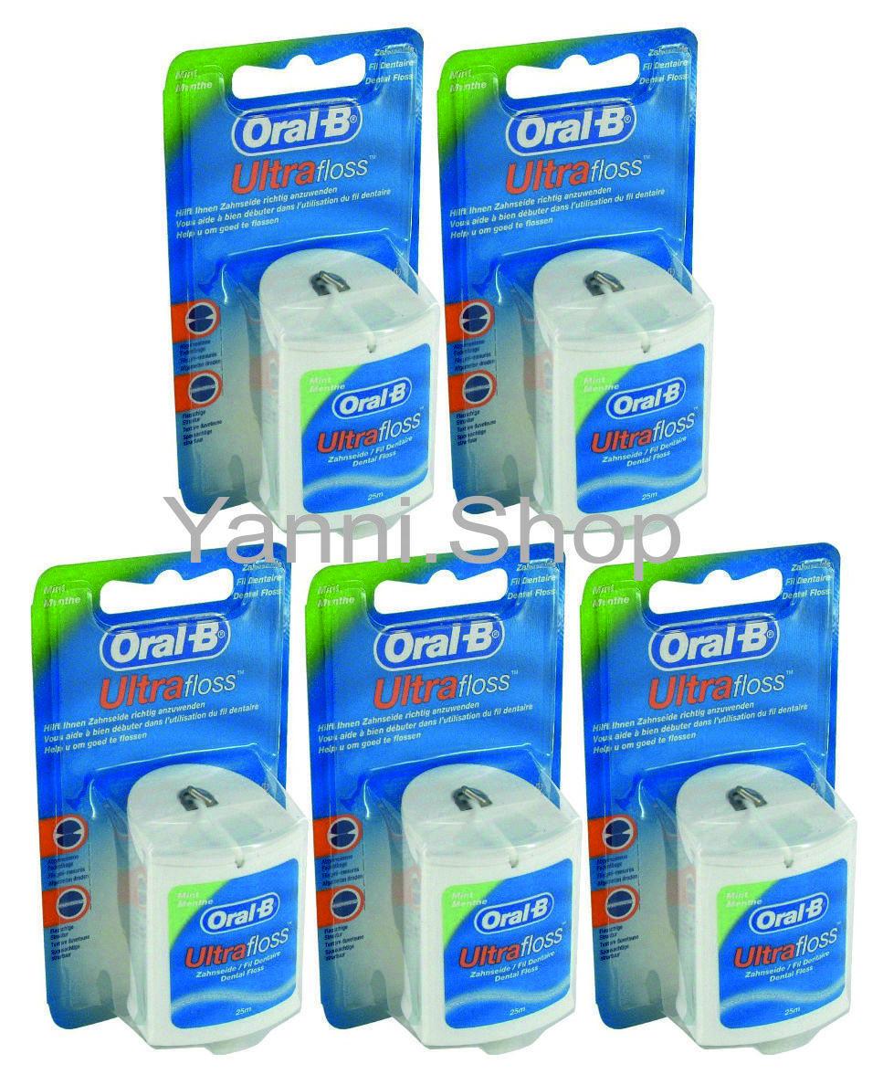 Oral-B Ultrafloss Zahnseide 25 m als 5-er Pack (5 x 25 m)