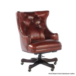 Tufted Desk Chair Sit Me Up 32 39 W Office Casters Back Soft Vintage