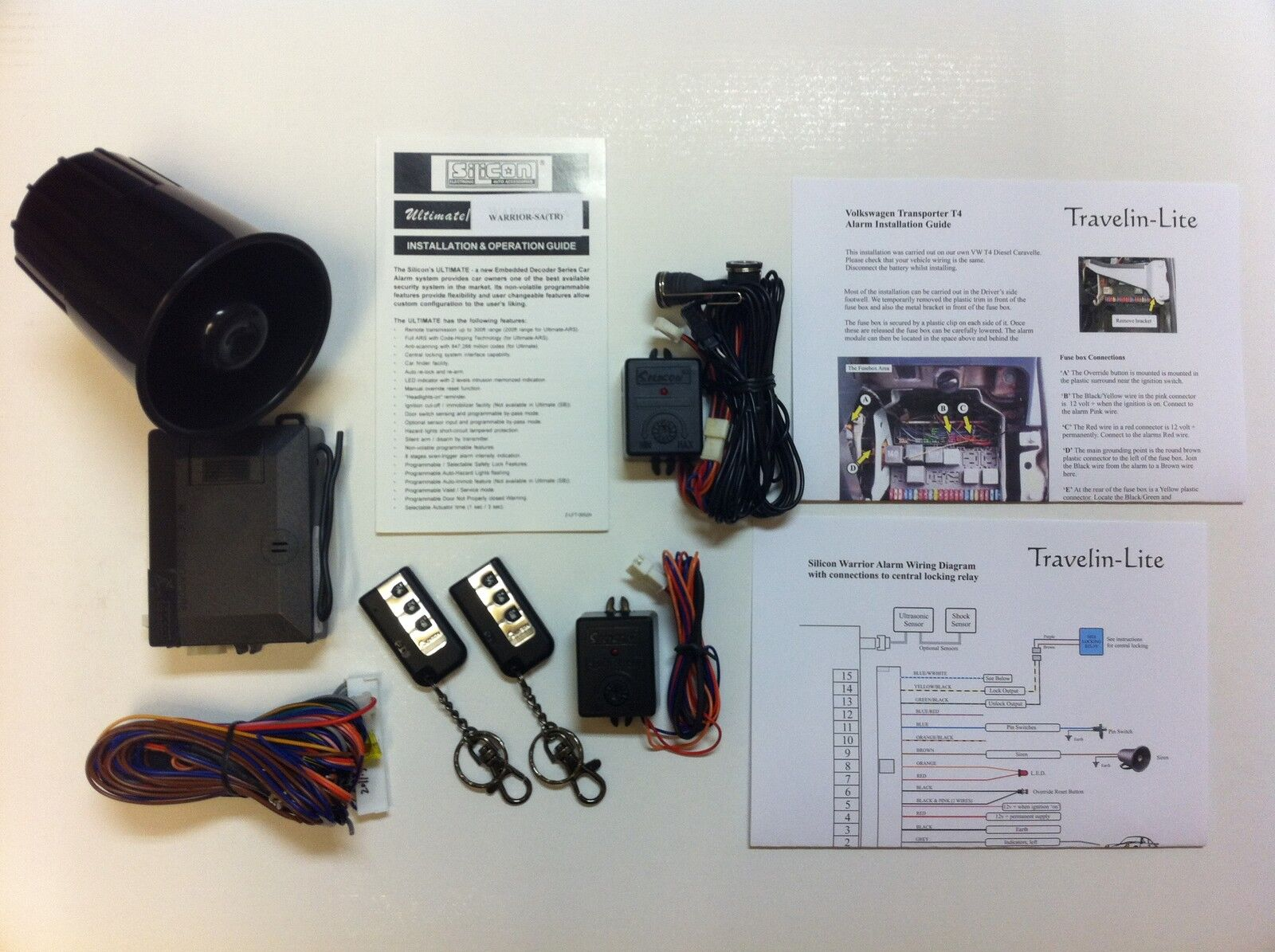 hight resolution of details about for vw t4 transporter caravelle alarm system brand new
