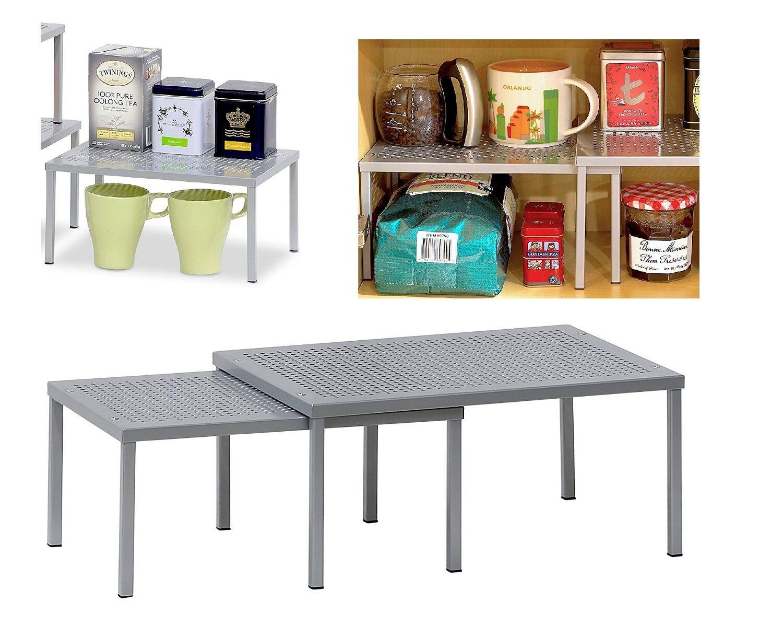 two tier kitchen drawer organizer best water filter system rack cabinet 2 storage holder shelf