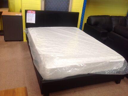 Prado Leather Look Bed Mattress Package