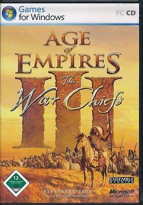 Age of Empires 3 III - The War Chiefs Addon für PC Deutsch mit Handbuch