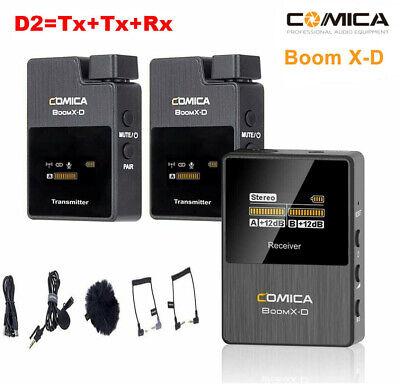 Comica BoomX-D D2 2.4G Wireless Lavalier Mikrofon System mit 2x Sender Empfänger
