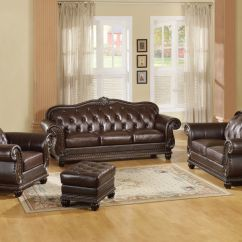 2 Piece Brown Leather Sofa Crate And Barrel Bed Reviews Formal Loveseat Collection Annondale Top Grain