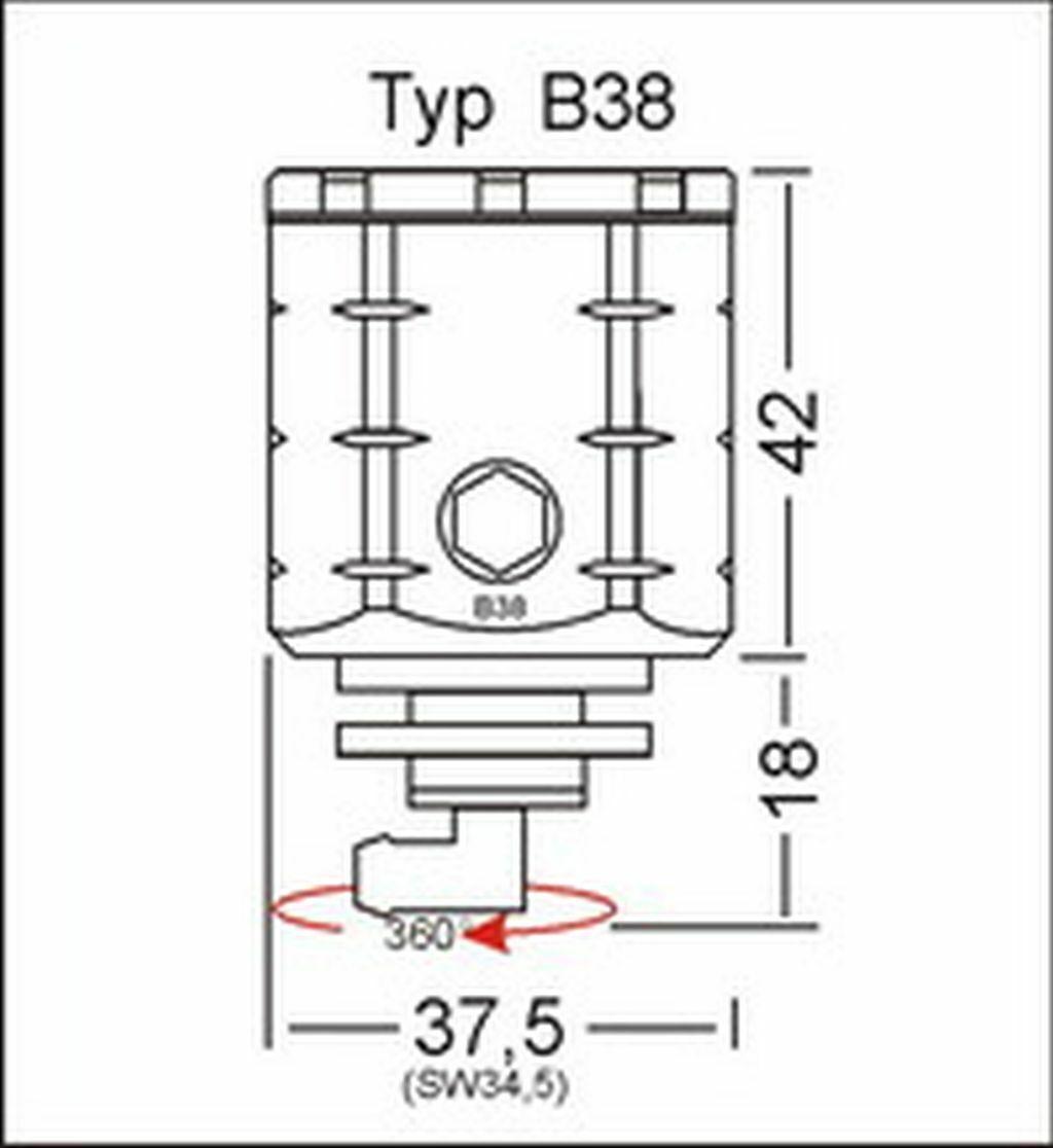 GSG Bremsbehälter Hinten blau Yamaha MT-01 RP18 07-12 ABE