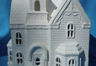Christmas Houses To Paint Ebay